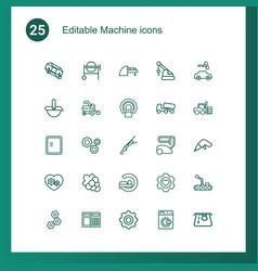 25 machine icons vector