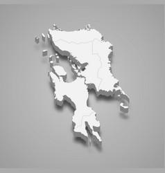 3d isometric map eastern visayas is a region vector