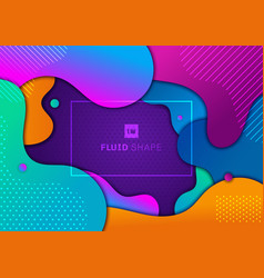 abstract trendy fluid gradient shape vibrant vector image