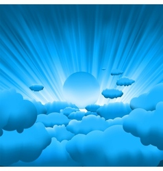 beautiful clouds vector image