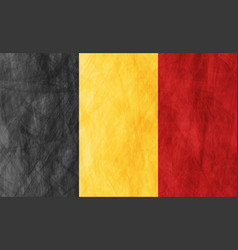 belgian grunge flag abstract textural background vector image