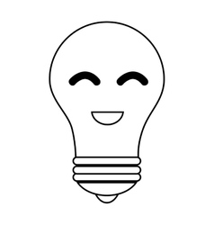 Bulb light character education icon vector