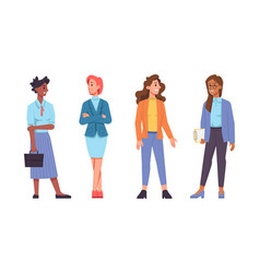business women different races managers clients vector image