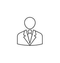 Businessman line icon user business vector