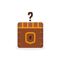 Cartoon question box like treasure vector