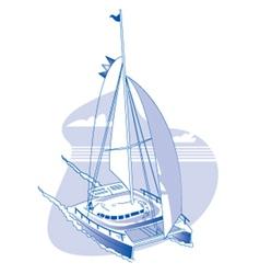 Catamaran vector