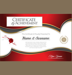 Certificate or diploma modern design template 4205 vector
