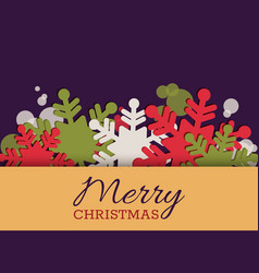 christmas greeting card invitation with vector image