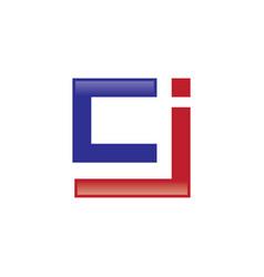 Cj letter logo vector