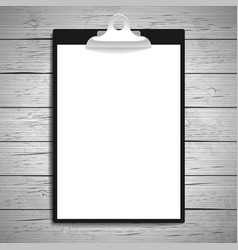 clipboard with paper vintage background vector image