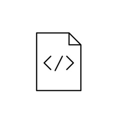 Code paper html sheet outline icon signs and vector