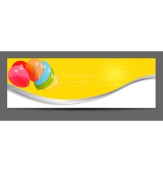 Colored balloons banner vector