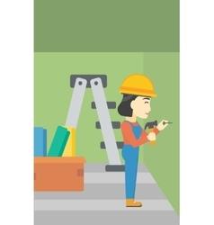 Constructor hammering nail vector