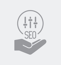 Customized seo services offer vector