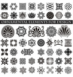 Decorative items to decorate your work vector