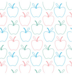 Delicious apple fruit with leaf background vector