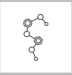 digital molecula ai artificial intelligence dna vector image