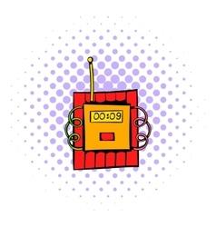 Dynamite icon comics style vector image