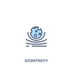 eccentricity concept 2 colored icon simple line vector image