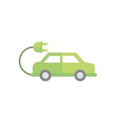 electric car plug green energy icon vector image