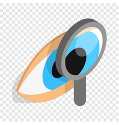 Eye exam isometric icon vector