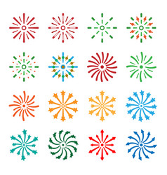Firework icons set vector