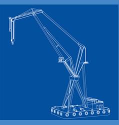 Floating crane vector