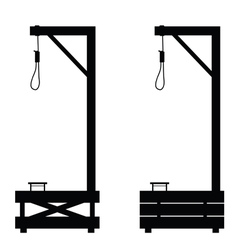 Gallows set in black color on white vector