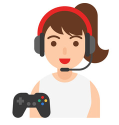 gamer icon profession and job vector image