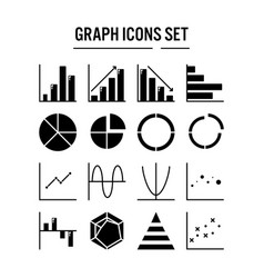 graph and diagram icon in solid design for web vector image