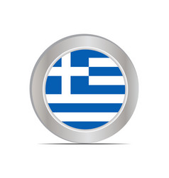 Greek national flag isolated in official colors vector