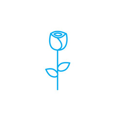 growing roses linear icon concept growing roses vector image