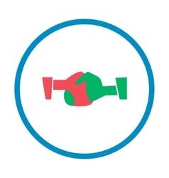 handshake flat style icon vector image