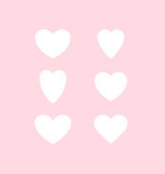Hearts temp pink set vector