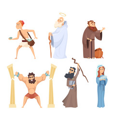 historical of christian characters vector image