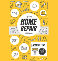 House remodeling service home repair tools vector