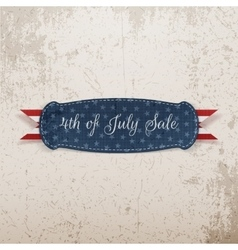 Independence Day 4th of July Holiday Card Template vector image