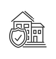 insurance - modern line design vector image