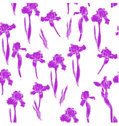 iris pattern violet vector image