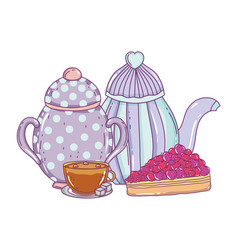 Isolated bowl and coffee pot design vector
