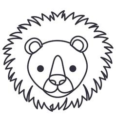 Isolated lion cartoon design vector image