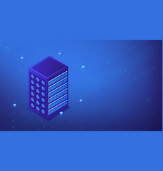 isometric server farm concept vector image