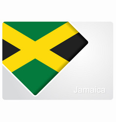 Jamaican flag design background vector