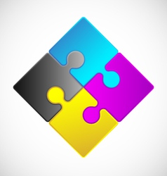 Jigsaw puzzle icon vector