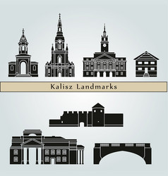 kalisz landmarks vector image