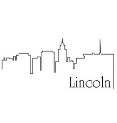Lincoln city one line drawing vector