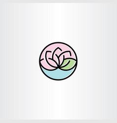 lotus clip art symbol vector image