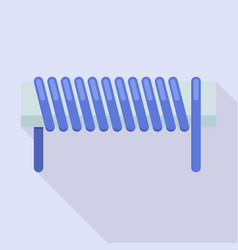 Magnetic coil icon flat style vector