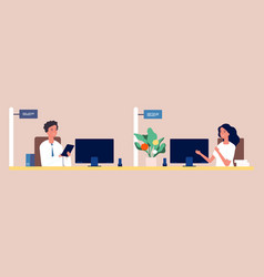 managers at work girl and guy financial advisors vector image