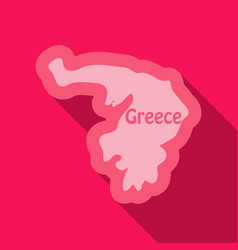 Map of greece in flat style with shadow vector